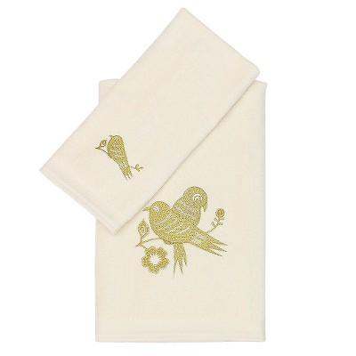 Seedling by Thomas Paul® Aviary Bath/Hand 2 Piece Towel Set - Mustard