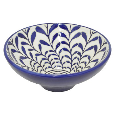 Three Hands Ceramic Bowl - Blue/White (4.75 )