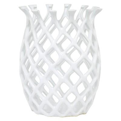 """Three Hands Ceramic Hurricane - White (10"""")"""