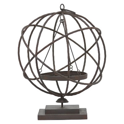 "Three Hands Metal Candle Holder (19.25"")"