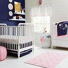 Navy & Pink Nursery Room