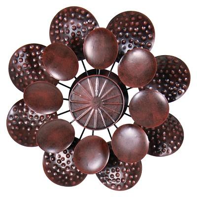 "12"" x 43"" Kinetic Dual Petal Flower Garden Stake - Bronze"