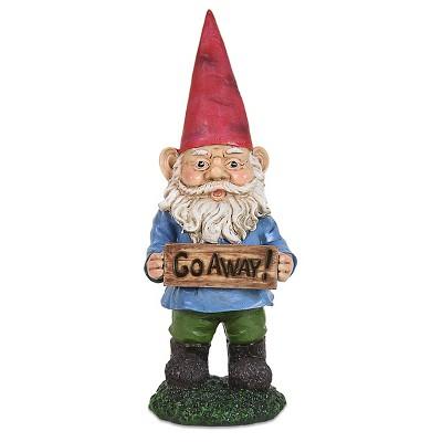 "13"" Gnome with Attitude - Go Away"