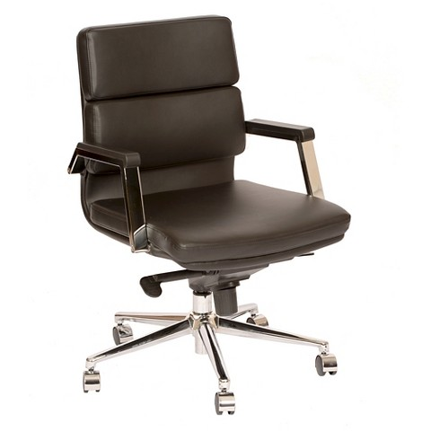 fabian modern office chair black chrome armen living product details