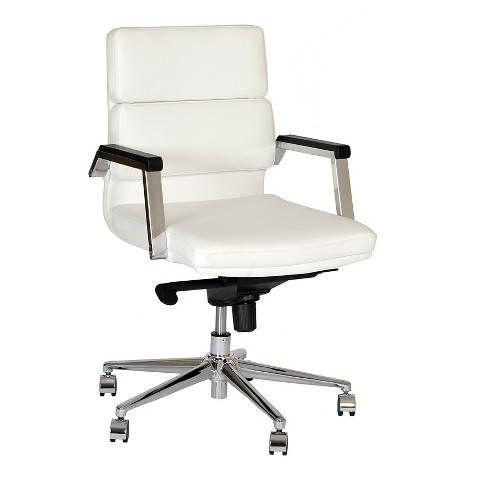 fabian modern office chair white chrome armen living product details