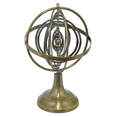 "Three Hands Brass Globe (15"")"