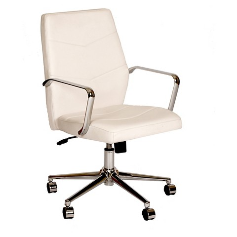 viken office chair white chrome armen living product details page