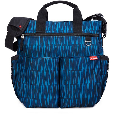 skip hop duo signature diaper bag blue graffiti target. Black Bedroom Furniture Sets. Home Design Ideas