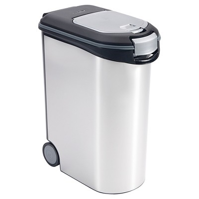 5.28 gallon Pet Food Silver Storage Container- Boots & Barkley™