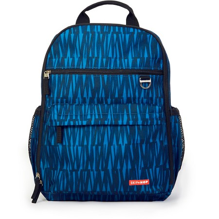 skip hop duo diaper backpack blue graffiti target. Black Bedroom Furniture Sets. Home Design Ideas