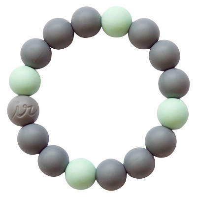 Itzy Ritzy Teething Happens™ Bead Bracelet Mint with Gray