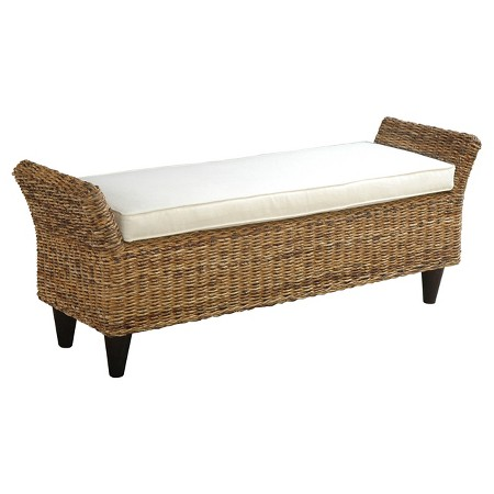 Francis Tall Entryway Bench With Cushion Jeffan Target