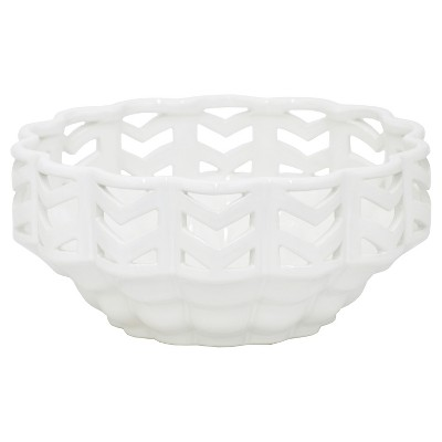 "Three Hands Ceramic Bowl - White (5.25"" )"