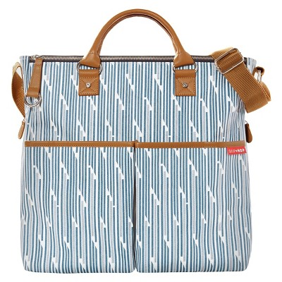 Skip Hop Duo Special Edition Diaper Bag - Blueprint Stripe
