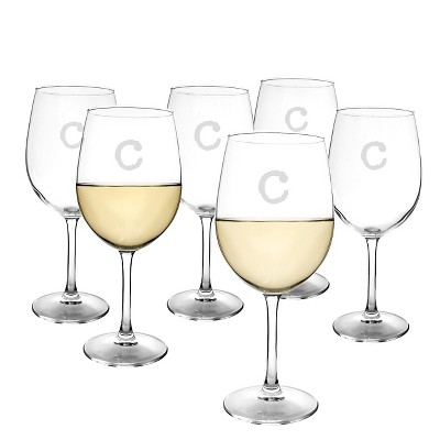 Cathy's Concepts® Personalized 12 oz. White Wine Glasses (Set of 6)-C
