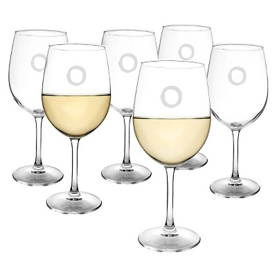 Cathy's Concepts® Personalized 12 oz. White Wine Glasses (Set of 6)-O