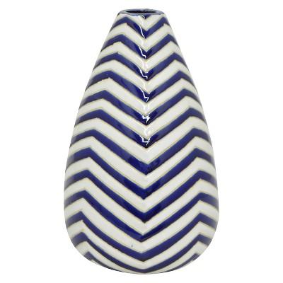Three Hands Ceramic Vase - Blue/White (12.75 )