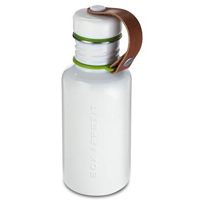 """Black + Blum - Water Bottle White/ Lime - 2.76""""L x 2.76""""W x 7.87""""H"""