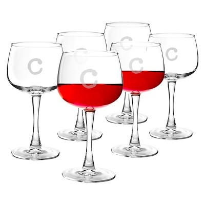 Cathy's Concepts® Personalized 13oz. Red Wine Glasses (Set of 6)-C