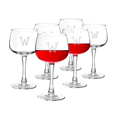Cathy's Concepts® Personalized 13oz. Red Wine Glasses (Set of 6)-W