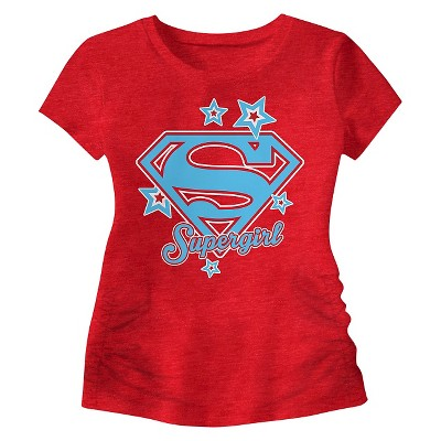 Baby Girls' Supergirl Graphic Tee Red - 18M