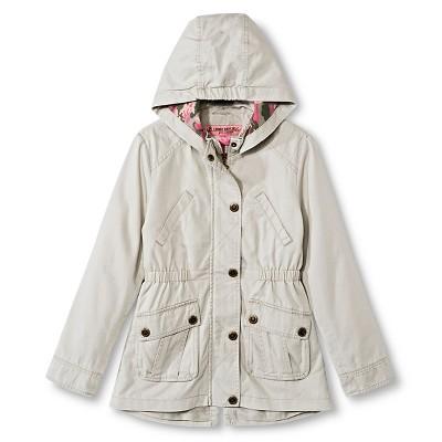 Baby Girls' Urban Republic Hooded Cotton Twill Jacket Baby Khaki 24M