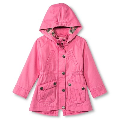 Baby Girls' Urban Republic Hooded Cotton Twill Jacket Pink Lemonade 12M