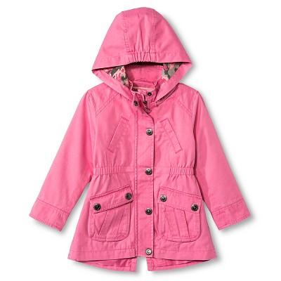 Baby Girls' Urban Republic Hooded Cotton Twill Jacket Pink Lemonade 18M
