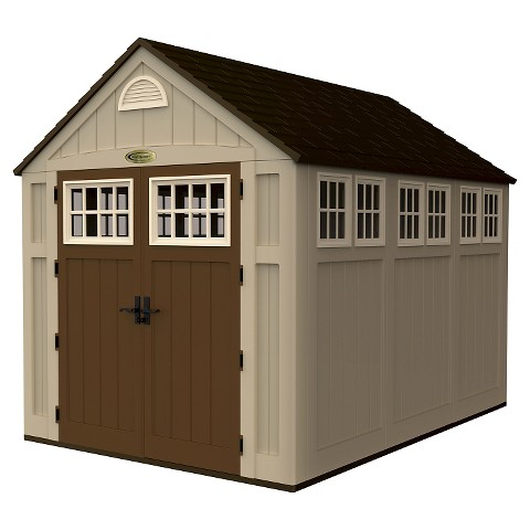 Suncast storage shed target for Casetas de jardin de resina aki