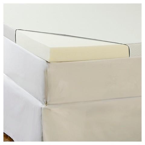 "3"" memory foam topper with waterproof cover Tar"
