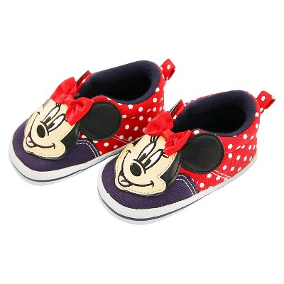 Minnie Mouse Baby Girls' Sneaker - Red 3-6 M