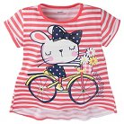 Gerber® Toddler Girls' Stripe T-Shirt - Pink 3T