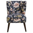 Lauren Curved Back Armless Chair Lalita Storm - Skyline Furniture