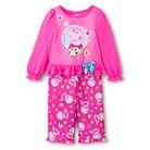 Peppa Pig Baby Girls' Long-Sleeve Pajama Set - Pink 12 M