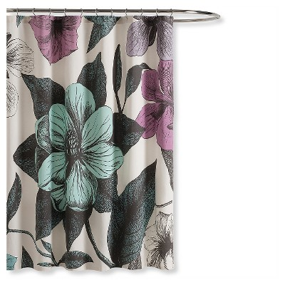 "Seedling by Thomas Paul® Botanical Shower Curtain - Multi-Colored (72""x72"")"