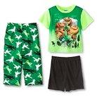 Toddler Boys' The Good Dinosaur 3-Piece Pajama Set - Green 2T