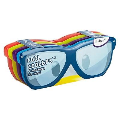 Fit & Fresh Cool Coolers Sunglasses Ice Packs - Set of 4
