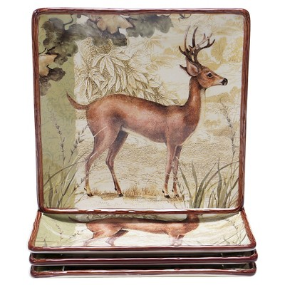 "Certified International Rustic Nature Set of 4 Dinner Plate (10.25"")"