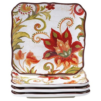 "Certified International Spice Flowers Set of 4 Dessert Plate (8.5"")"