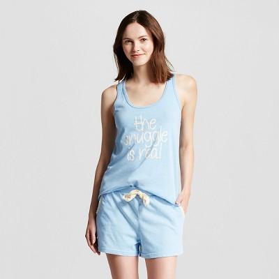 Snooze Button™ Women's Sleep Set - Blue Heather XL