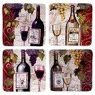 "Certified International Wine Tasting Set of 4 Salad Plate (8.5"")"