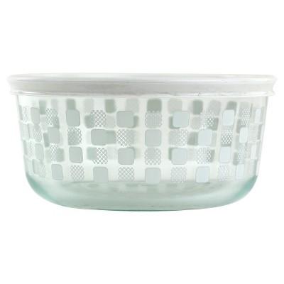 Pyrex 4 Cup Storage Plus Round Storage - White Squared