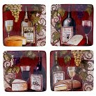 "Certified International Wine Tasting Set of 4 Canape Plate (6"")"