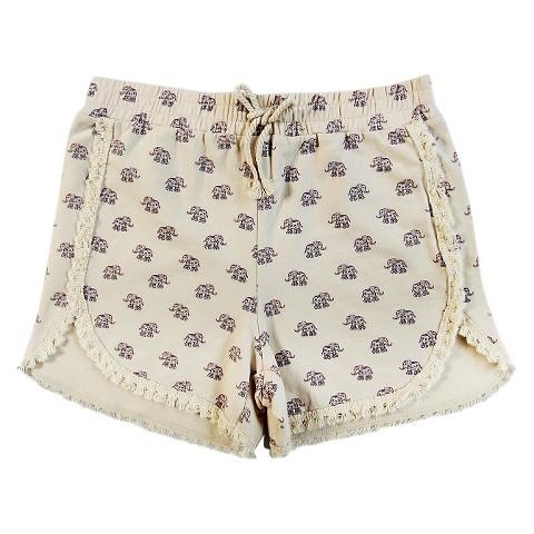 Girls Elephant Knit Shorts White - Xhilaration : Target