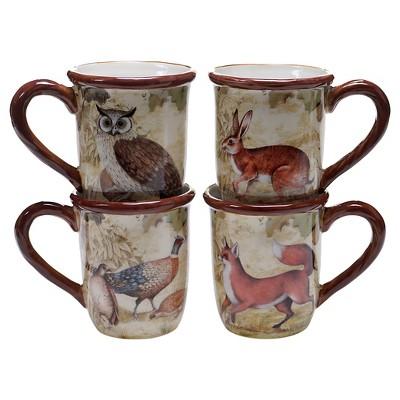Certified International Rustic Nature Set of 4 Mug (16 oz.)