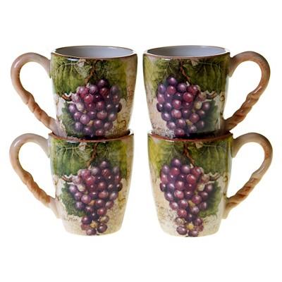 Certified International Sanctuary Wine Set of 4 Mug (18 oz.)