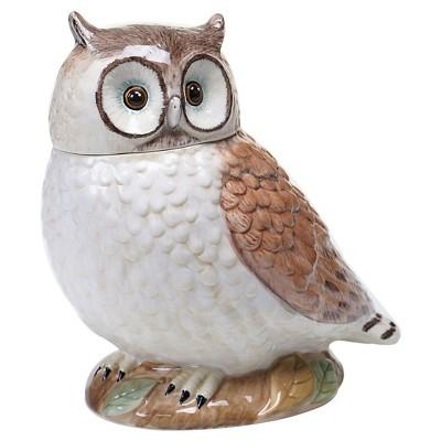 "Certified International Rustic Nature 3-D Owl Cookie Jar (10"")"
