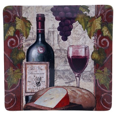 "Certified International Wine Tasting Square Platter (14.25"")"