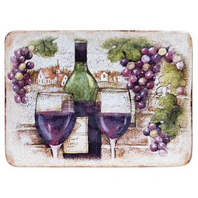 "Certified International Sanctuary Wine Rectangular Platter (16"" x 12"")"