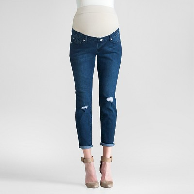 Maternity Distressed Denim Dark Wash M - Expected by Lilac